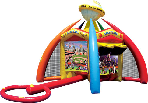 bounce houses for rent southlake, colleyville, flower mound. World of sports 5 sports in one inflatable unit 30 feet by 45 feet